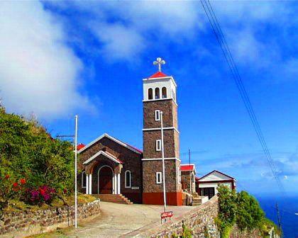 Catholic church in Saba (The Caribbean)