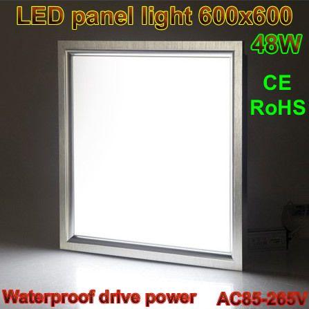 LED panel light 600x600 48W 85-265V,Industrial led lighting,Waterproof drive power+White/Warm white/Cold white,CE/RoHS,5pcs/lot