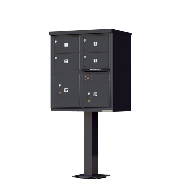 1570 Series 4 Large Mailboxes, 1 Outgoing Compartment, 2 Parcel Lockers, Vital Cluster Box Unit,