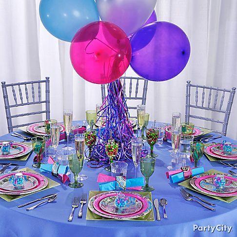 Informal Wedding Reception Ideas In Purple Blue And Pink