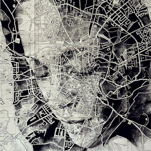 la de da: Map portraits by Ed Fairburn