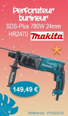 Perforateur-burineur SDS-Plus MAKITA 780W 24 MM - HR2470