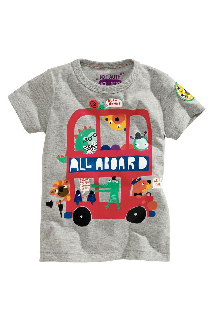 Design t shirt baby - Buy All Aboard T Shirt 3mths 6yrs From The Next Uk Online Illustration Kidsbaby Designboy