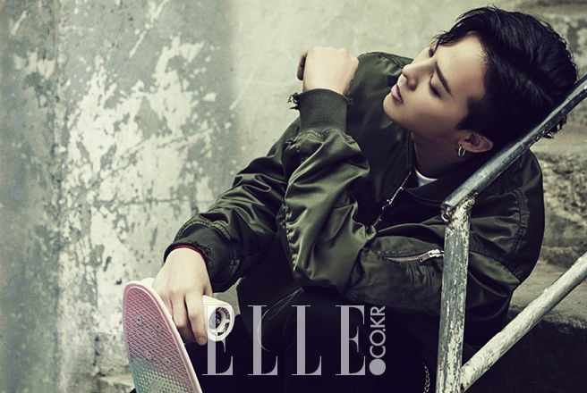 "More G-Dragon for ""8 Seconds"" Collaboration in ""Elle Korea"" [PHOTO] - bigbangupdates"