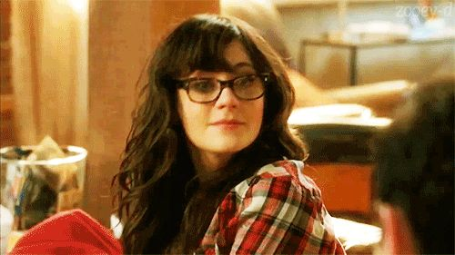 Zoey Deschanel, glasses, sexy, cute, gif,