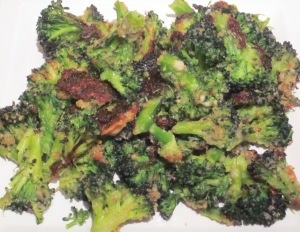 Roasted Parmesan Broccoli, because I'm a little over simply steaming them