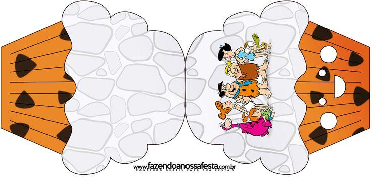 Convite Cupcake Os Flintstones: