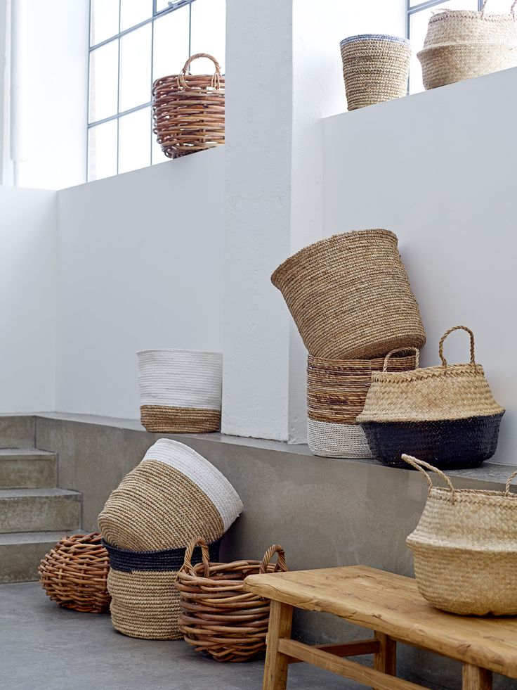 Baskets are wonderfully versatile <3 Design by Bloomingville