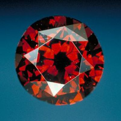 DeYoung Red Diamond, Smithsonian Institution.  One of the finest red diamonds at 5.03 cts.  It was misidentified as a garnet for some time.