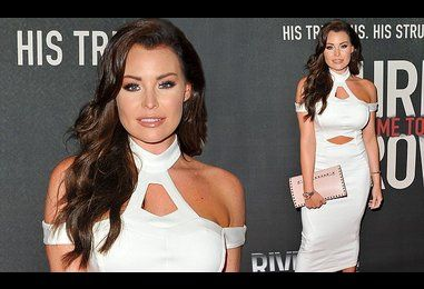 Jess Wright appears at Chris Brown documentary premiere