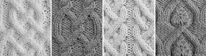 For those who are interested, these are the meanings most often associated with commonly found stitch patterns in Aran knitting.