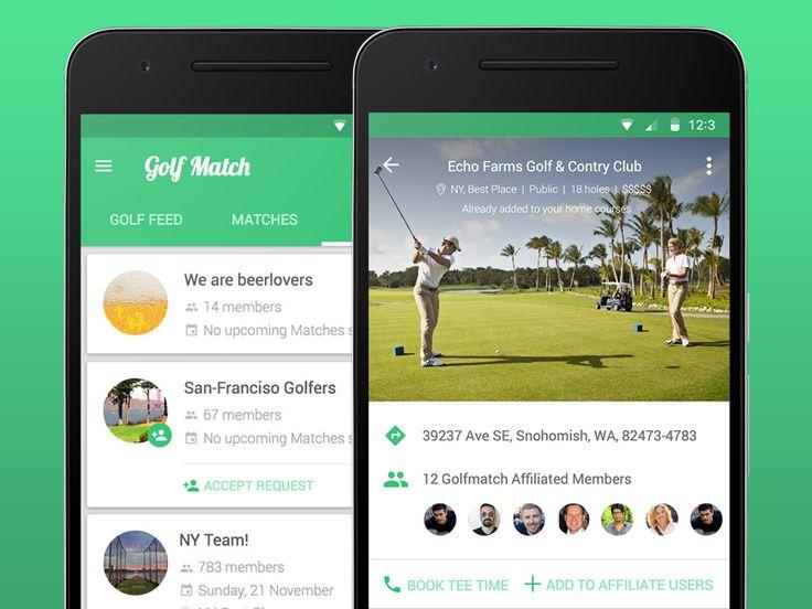 Golf match App design by Alex Kukharenko