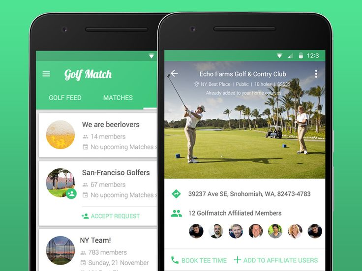 Golf match App design by Alex Kukharenko