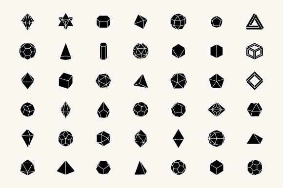 3D Geometric Shapes by Alex Roka on Creative Market in