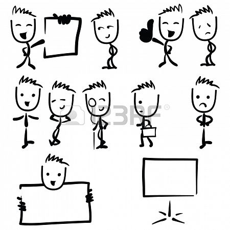Business man illustration stick figure drawing Stock Photo - 20386919