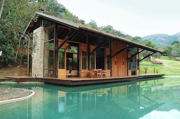 House in Itaipava by Cadas Architecture: Cabin, Dreams Houses, Little Houses, Cada Architecture, Lakes Houses, Tiny Houses, Pools Houses, Small Houses, Houses Design