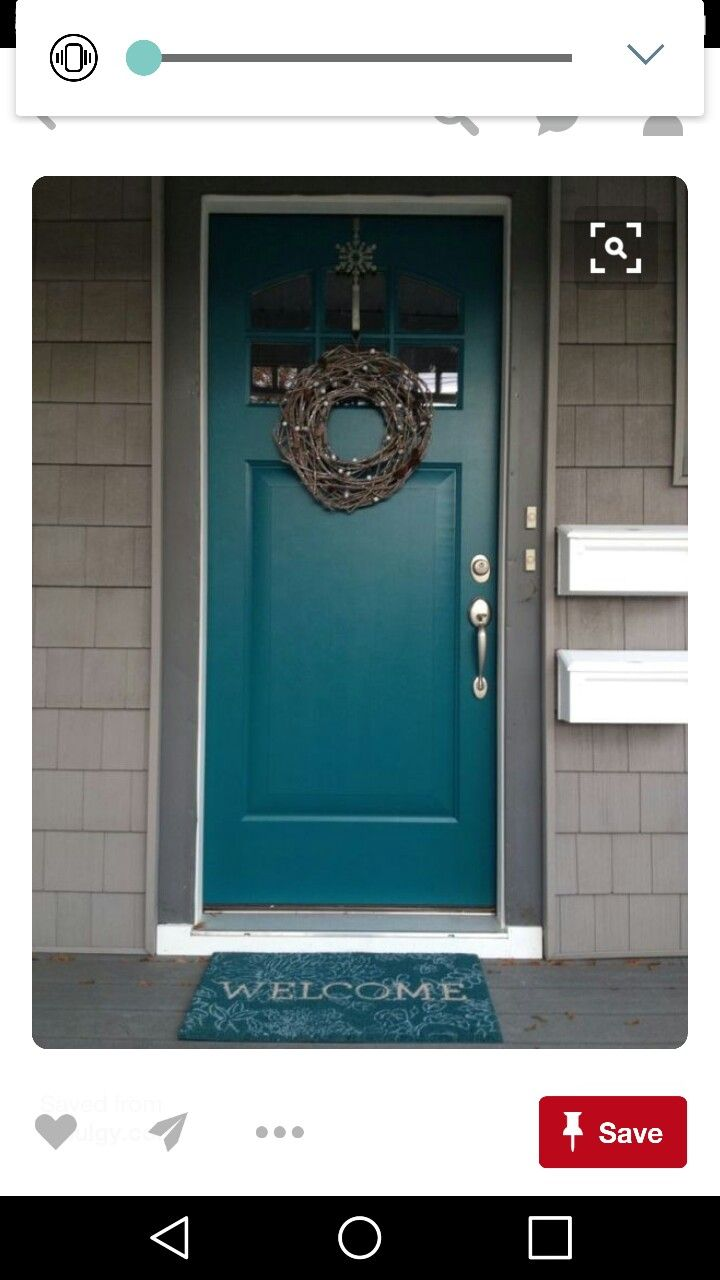 67 best gray house with colored doors images on pinterest - What color door goes with gray house ...