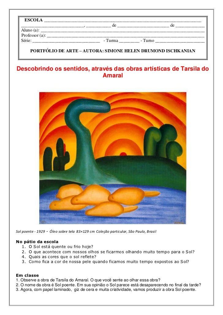 Sol Poente De Tarsila Do Amaral2 Aulas De Educacao Artistica