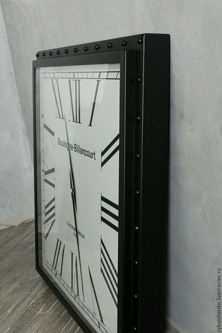 Купить Часы Loft черные - настенные часы, гигантские часы, здоровые часы, красивые часы