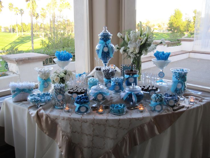 blue candy buffet for boy baby shower description from i searched