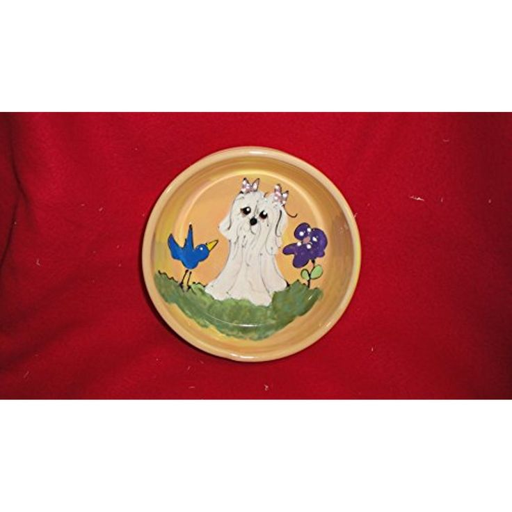 Dog bowl shih tzu 8 ceramic dog bowl for food or water