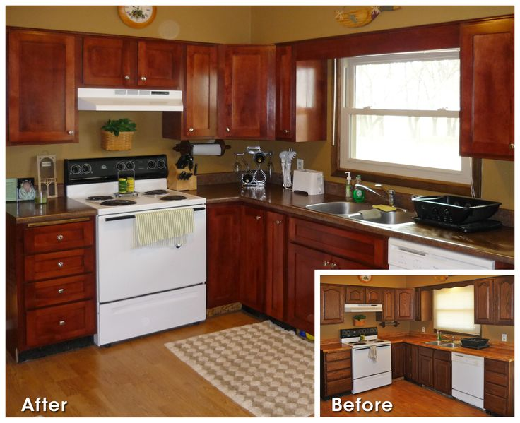 Before And After Kitchen Refacing Old House Remodel Pinterest