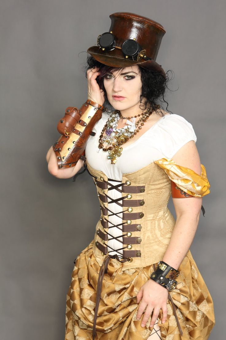 This is a corset from Etsy, but I like the look...