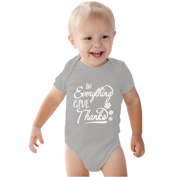 In Everything Give Thanks Baby Girl Heather bodysuit or Shirt by bodysuitsbynany on Etsy