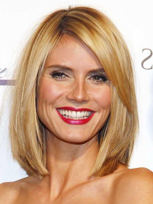 Heidi Klum Long Bob | Hairstyles, Celebirity Hairstyles, Fashion Trends, Hair Care, Beauty
