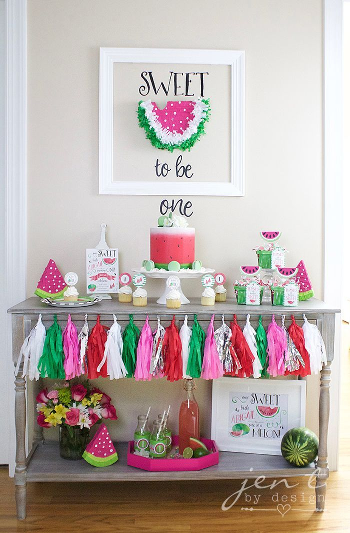 A Watermelon First Birthday Party with Cricut