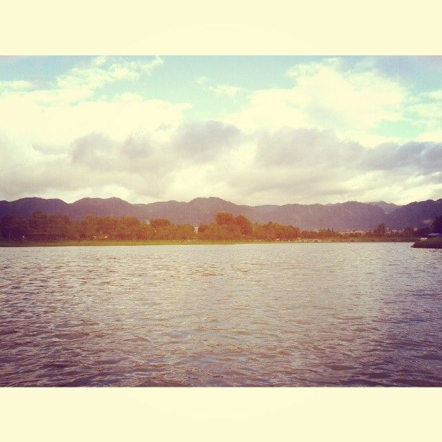 Nice day spent with friends  #lake #sky #park #woods