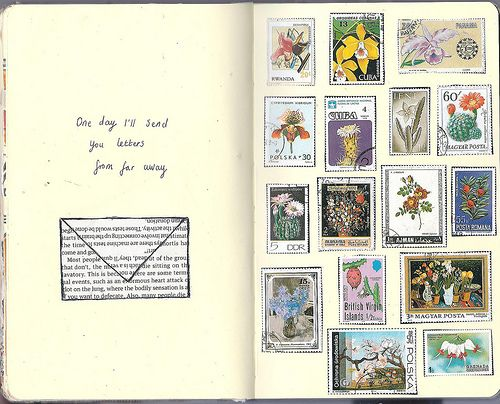 katie drew....one day i'll send you letters from far away.....#journal page