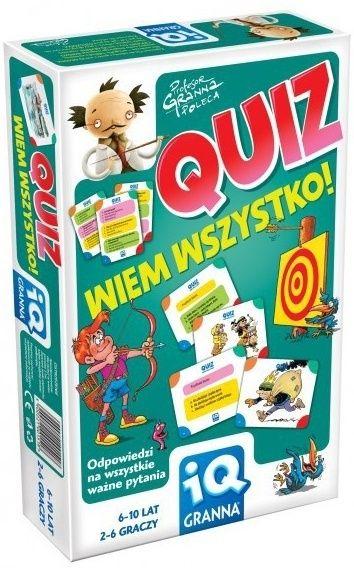 IQ Granna: Quiz - wiem wszystko 35+9zł, 2-6 osób, 6-10 r. ż.