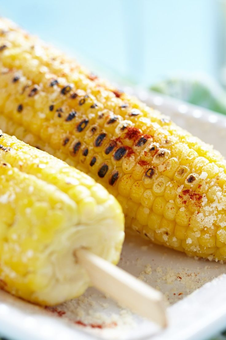 Parmesan Roasted Corn on the Cob Recipe | I'll have that on the side ...