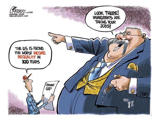 inequality cartoon   jobs « Carlsontoons.com   The ...