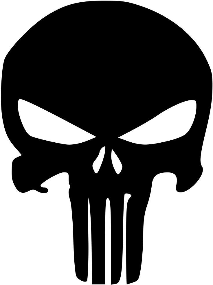 Punisher logo google search ink skull stencil vinyl for Logo clipart