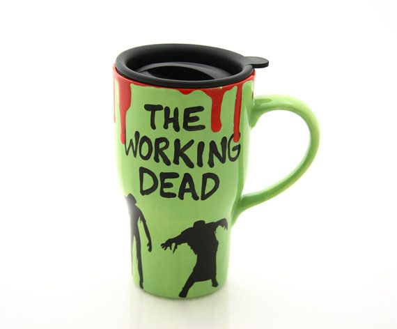 Hey, I found this really awesome Etsy listing at https://www.etsy.com/listing/159091450/ceramic-travel-mug-the-working-dead