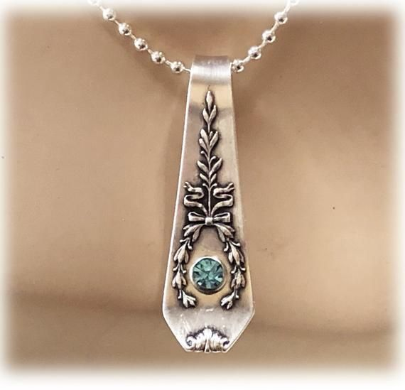 Small Sterling Silver spoon necklace