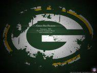 Green Bay Packers have no Mascot