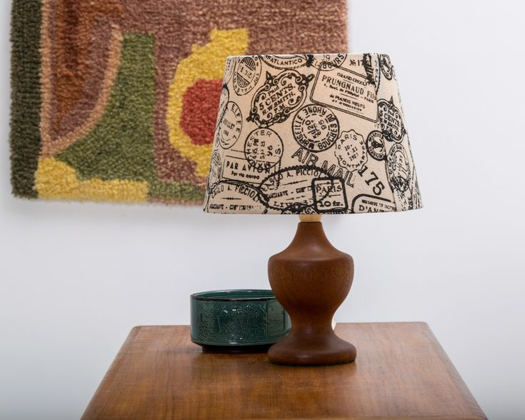 """Turned Mahogany Table Lamp ca. 1950 """"Red"""" - Refinished and new wool felt base"""