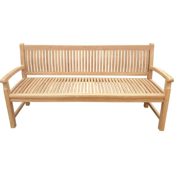 Catlett Teak Garden Bench With Images