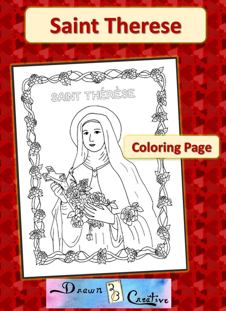 Saint Therese Coloring Page Catholic