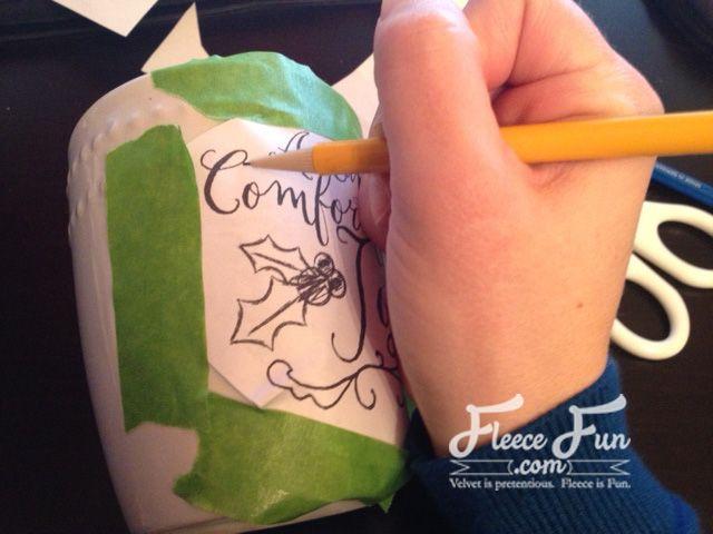 Sharpie Mug tutorial with free templates and printable photo on www.fleecefun.com