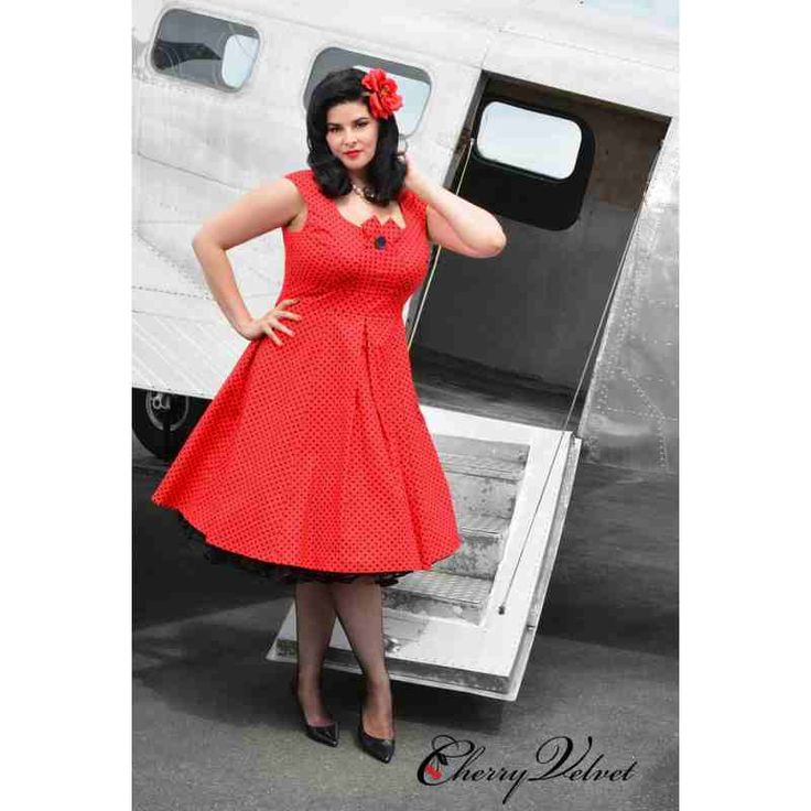 PRE-ORDER - Kate Dress (Red and Black Dot) $244.00 http://www.curvyclothing.com.au/index.php?route=product/product&path=95_151&product_id=10252