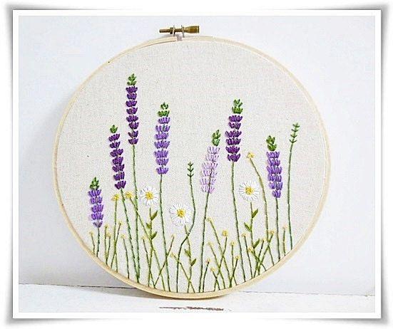 Lavender garden daisy garden hand by KawaiiSakuraHandmade on Etsy, ¥18000