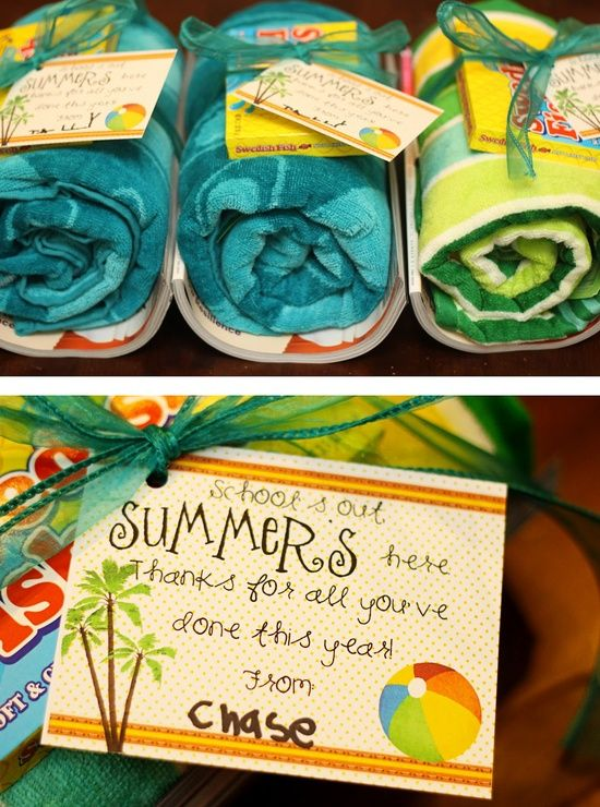 End of the Year Teacher Gift Ideas template