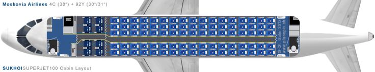 Moskovia Sukhoi Superjet seat map