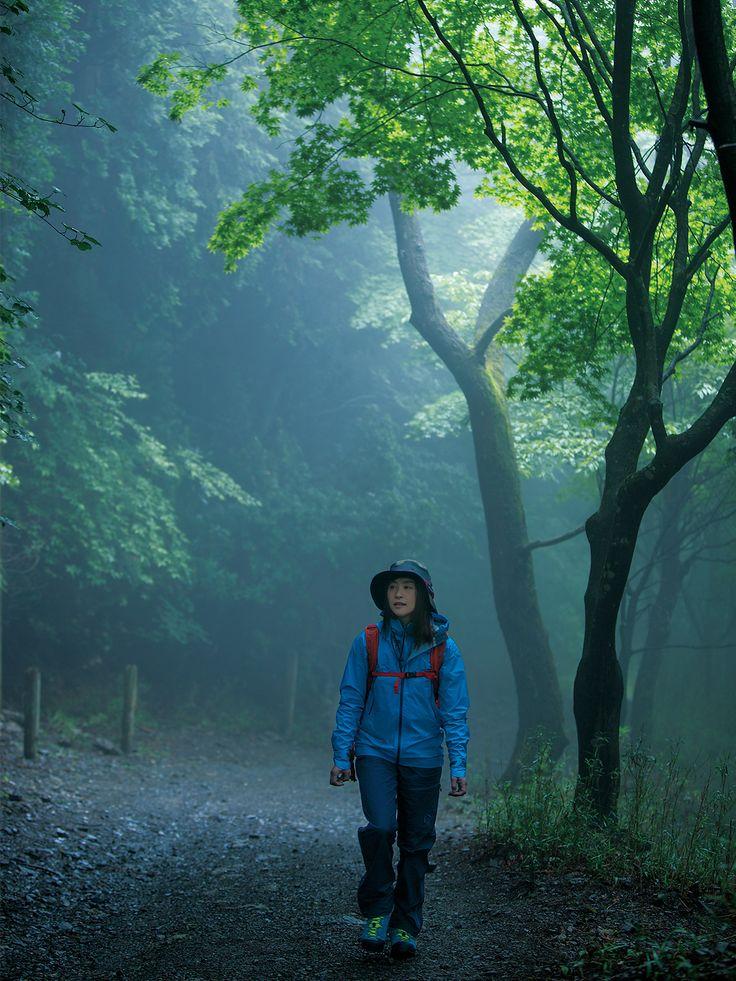 山の霊気を感じながら一歩一歩進む 早朝や雨のあとの比叡山は、霧に包まれることもしばしば。霊山らしい神秘的な雰囲気が漂います。
