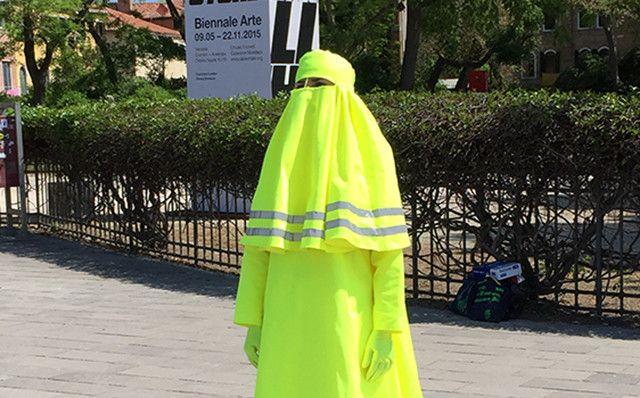 "<p>""High Visibility Burqa"" byMarco Biagini.</p>  Photographer: Noah Feldman"