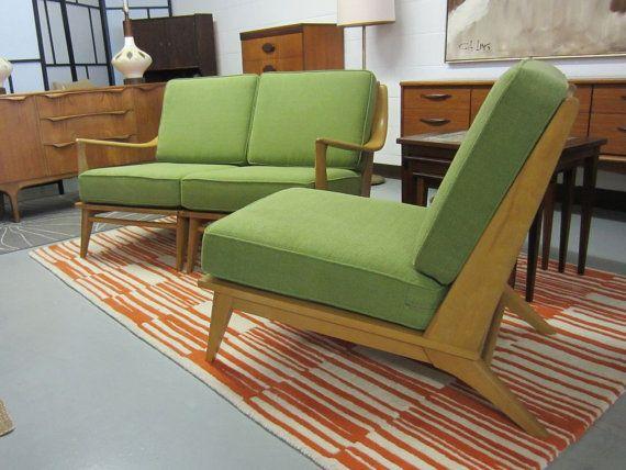 Heywood Wakefield Sofa Leather Sectional Sofa